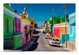Póster Bo Kaap, Cape Town, South Africa
