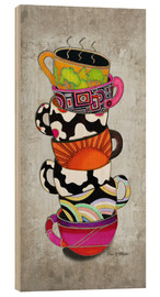 Cuadro de madera  Stacked Hot Cuppa Collection 1 - Megan Duncanson