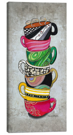 Lienzo  Stacked Hot Cuppa Collection 2 - Megan Duncanson