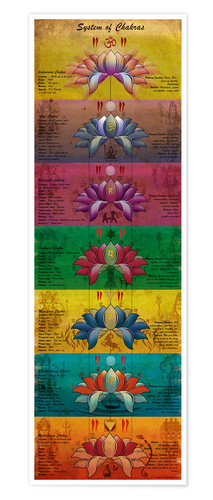 Póster System of Chakras Contrastive View