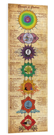 Forex  Elements of Chakras Yoga Poster - Sharma Satyakam