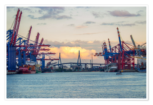 Póster Container terminal Hamburg Harbour