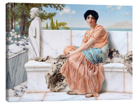 Lienzo  En el día de Safo - John William Godward