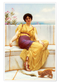 Póster  Relajación - John William Godward