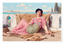 Póster  A Quiet Pet - John William Godward