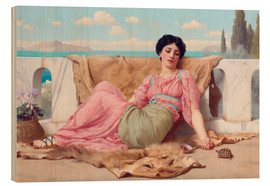 Cuadro de madera  A Quiet Pet - John William Godward
