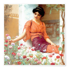 Póster  Summer Flowers - John William Godward