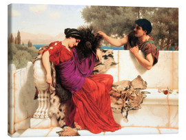 Lienzo  The Old Old Story - John William Godward