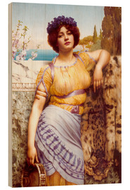 Cuadro de madera  Ionian Dancing Girl - John William Godward