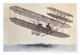 Póster Plane of the Wright brothers