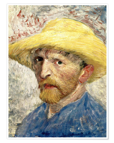 Póster Vincent van Gogh with straw hat