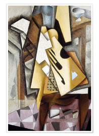 Póster  Guitar on a Chair - Juan Gris