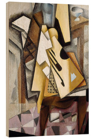 Cuadro de madera  Guitar on a Chair - Juan Gris