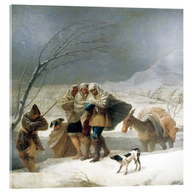 Cuadro de metacrilato  The Snowfall, The Winter - Francisco José de Goya
