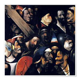 Póster  Christ carrying the cross - Hieronymus Bosch