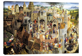 Lienzo  Passion of the Christ - Hans Memling