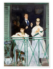 Póster  The Balcony - Edouard Manet