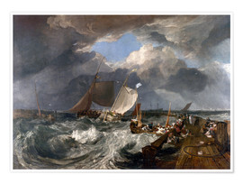 Póster  Puerto de Calais - Joseph Mallord William Turner