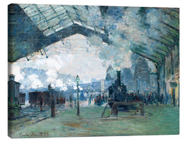 Lienzo  Gare de Saint Lazare: the train from Normandy - Claude Monet