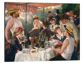 Aluminio-Dibond  Luncheon of the boating party - Pierre-Auguste Renoir