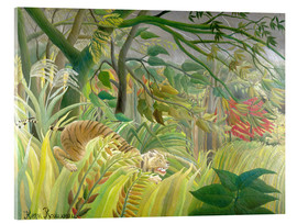Metacrilato  Tiger in a tropical storm - Henri Rousseau