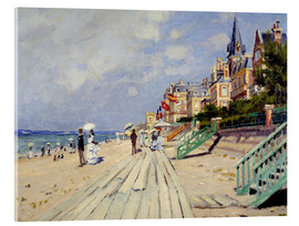 Metacrilato  the beach at trouville - Claude Monet