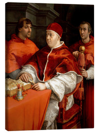 Lienzo  Leo X with cardinals - Raffael