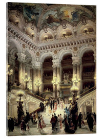 Cuadro de metacrilato  Stairs of the Opera in Paris - Louis Beraud
