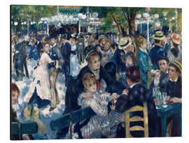 Aluminio-Dibond  Ball at the Moulin de la Galette - Pierre-Auguste Renoir