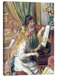 Lienzo  Two girls at the piano - Pierre-Auguste Renoir