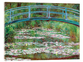 Metacrilato  Waterlily Pond - Claude Monet