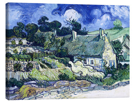 Lienzo  Thatched cottages at Cordeville - Vincent van Gogh