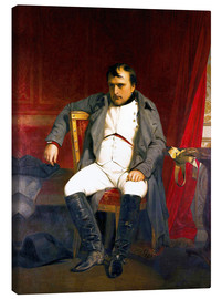 Lienzo  Napoleon after his abdication - Hippolyte Delaroche