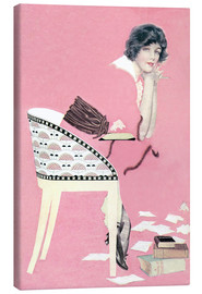Lienzo  pink books - Clarence Coles Phillips