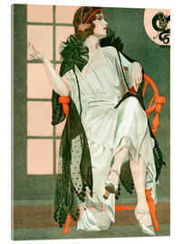 Cuadro de metacrilato  Lady writing - Clarence Coles Phillips