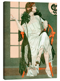 Lienzo  Lady writing - Clarence Coles Phillips