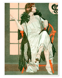 Póster  Lady writing - Clarence Coles Phillips