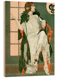 Cuadro de madera  Lady writing - Clarence Coles Phillips