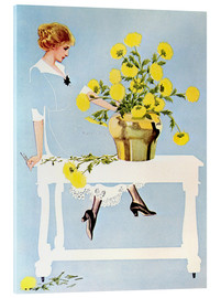 Cuadro de metacrilato  Housekeeper with bouquet - Clarence Coles Phillips