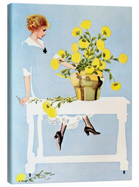 Lienzo  Housekeeper with bouquet - Clarence Coles Phillips