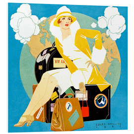 Forex  traveling Lady - Life magazine 1927 - Clarence Coles Phillips