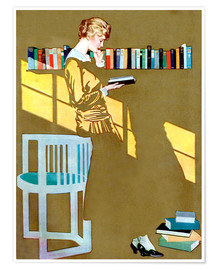 Póster  Read before the Bookshelf - Clarence Coles Phillips