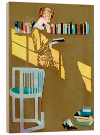 Madera  Read before the Bookshelf - Clarence Coles Phillips