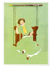 Póster  Woman writes with a pen - Clarence Coles Phillips