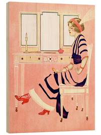 Cuadro de madera  fit and fine valentine - Clarence Coles Phillips