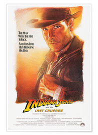 Póster Indiana Jones and the last Crusade