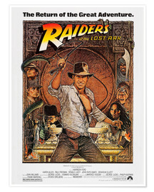 Póster  Indiana Jones, Raiders of the lost ark