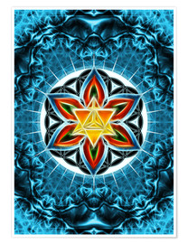 Póster Merkaba, Flower of Life, Sacred Geometry