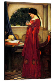 Cuadro de aluminio  La bola de cristal - John William Waterhouse