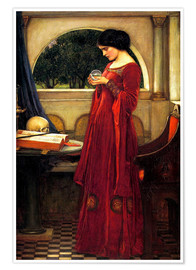 Póster  La bola de cristal - John William Waterhouse